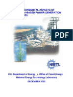 NETL - Environmental aspects of gasifcation-based power generation (2002)