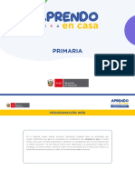 Programación Primaria - Semana 19 (10 a 14 Agosto 2020)
