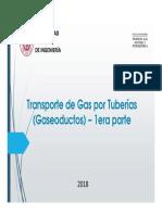Transporte de Gas Por Tuberías - Primera Parte