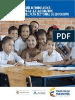 Guía metodológica plan sectorial educación Colombia