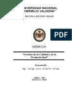 MODULO DE GESTION DE LA CALIDAD