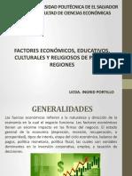 Clase 6 - Factores Económicos, Culturales, Religiosos de países y regiones