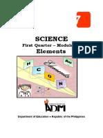 Sci7 Q1 Mod2A Elements v2