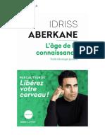 l'âge de la connaissance_Idriss Aberkane