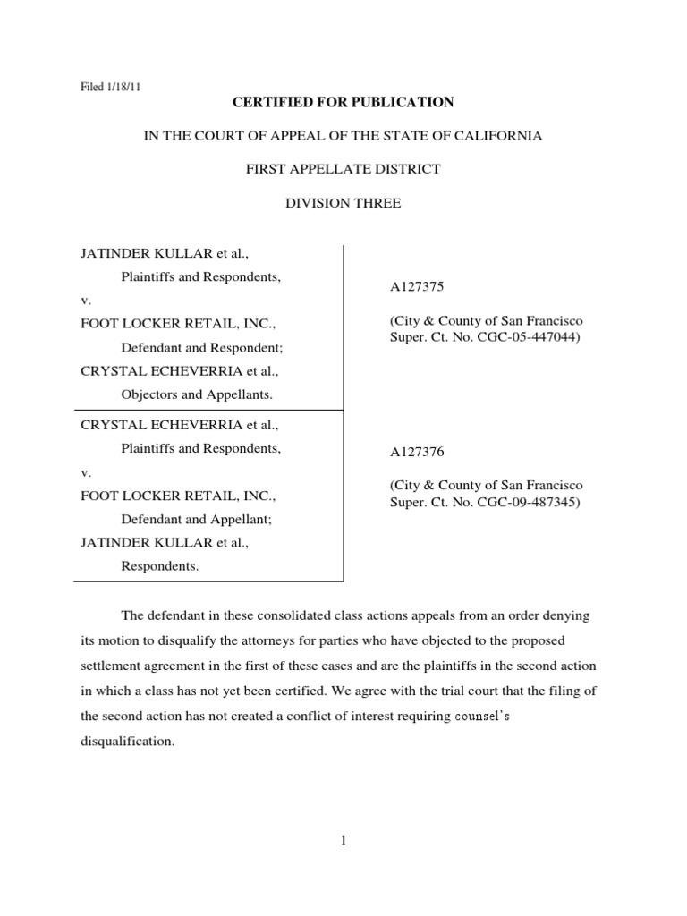Soto tcpa settlement - Footlocker Class Action Settlement Litigation