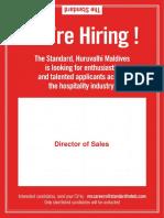 Job Advert -Director of Sales