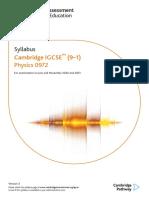 physics IGCSE syllabus 9-1