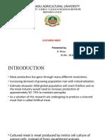 cultured meat - Divya ( seminar ppt).pptx