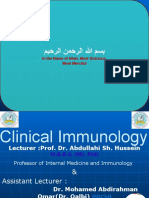 Clinical Immunology Lecture 3