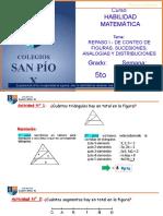 CLASE VIRTUAL HAB MATEMÁTICA REPASO I - CONTEO DE FIGURAS, SUCESIONES, ANALOGÍAS Y DISTRIBUCIONES - 5TO GRADO