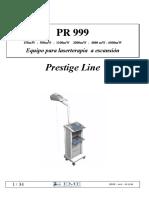 manuale uso PR 999 spa - rev0