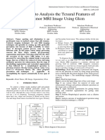 Efficient Way to Analysis the Texural Features of Brain Tumor MRI Image Using Glcm