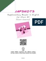 English Snapshots Supplementary Reader Class 11