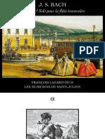 J.S. Bach Sonates & solo pour la flûte traversière François Lazarevitch Les Musiciens de Saint-Julien [Alpha] [24/88)