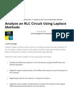 Analyze an RLC Circuit Using Laplace Methods - dummies_1589011872183