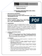 TDR - SERVICIO DE ASISTENCIA TECNICA PARA EL TRAMO PUENTE RANCHO - PANAO - CHAGLLA - MONOPAMPAMPA RUTA PE-18B