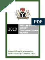 2010 QI BUDGET REPORT