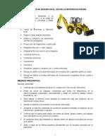 ANEXO, Seguridad en el uso de retroexcavadoras