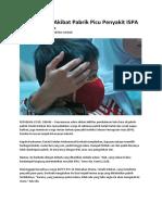 Polusi Udara Akibat Pabrik Picu Penyakit ISPA