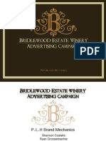 Bridlewood Winery Advertising Campaign Proposal