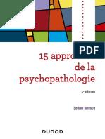 15 approches de la psychopathologie by Serban Ionescu