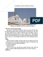 Biography of Hadrat Syed Dawood Hussain Shirazi