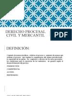 DERECHO PROCESAL CIVIL Y MERCANTIL 18 DE MAYO 2020