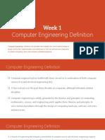 Week 1 Computer Engineering Definition