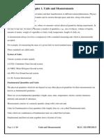Chapter 1. Units and Measurements Gen