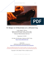 10 Steps to E-Business on a Shoestring