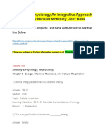 Anatomy & Physiology an Integrative Approach 3rd Edition by Michael McKinley -Test Bank