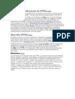 Primeras especificaciones de HTML