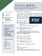 CV template USA & Canada
