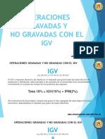 Operaciones gravadas y no gravadas del IGV - CCPLL - 11-03-2020