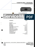 Philips 70fc930 Cassette Deck Service Manual (indexed)