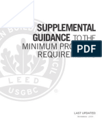 Supplemental Guidance to the MPR