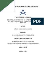 DESARROLLO DE RESUMEN DE EXPEDIENTE PENAL N°122 - 2000