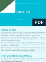 _RESUMO - AULA 4 - QUADRATURA