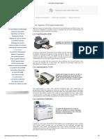 Les types d'imprimantes