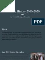 timeline history 2010-2020