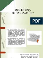 Organización, naturaleza y características