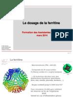 Dosage de la ferritine_2014-03-13