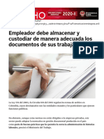 Empleador debe almacenar y custodiar de manera adecuada los documentos de sus trabajadores _ Noticias jurídicas y análisis de nuevas leyes AMBITOJURIDICO.COM