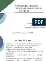 2 PREVENCIÓN DE RIESGOS LABORALES EN ARCHIVOS ANTE EL COVID-19