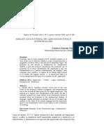 Viñao - Análisis lógico-formal del lenguaje natural e interpretación