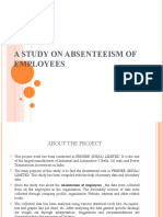 A STUDY ON ABSENTEEISM OF EMPLOYEES