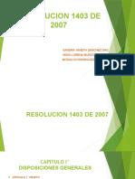 RESOLUCION 1403