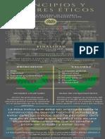 Infografía principios y valores éticos