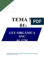 TEMA 1 LEY ORGANICA