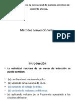Métodos de control de la velocidad de motores